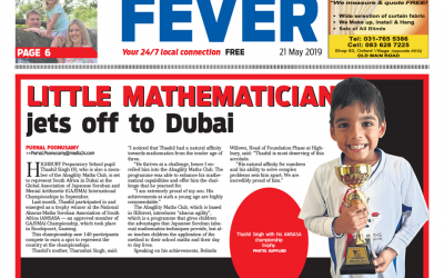 Little mathematician jets off to Dubai
