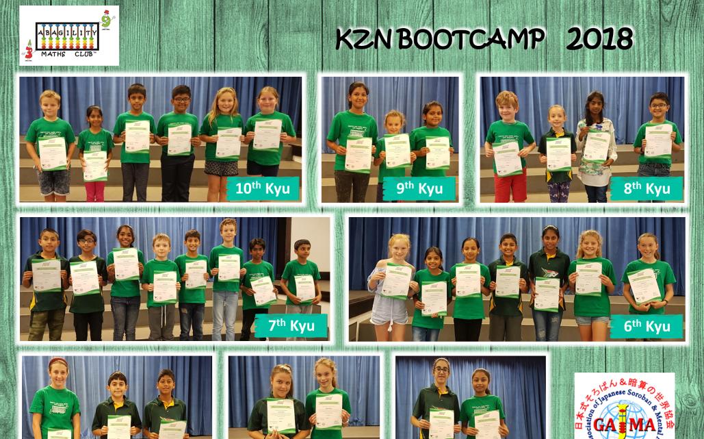 2018 KZN Bootcamp Results