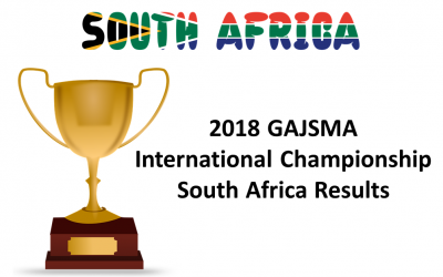 2018 GAJSMA International Championship (SA), 30 Sept 2018