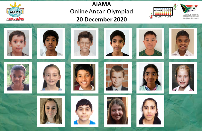 2020 AIAMA Olympiad Results